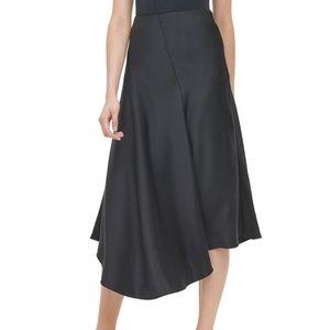 Calvin Klein Asymmetric A-Line Skirt, Black size 6